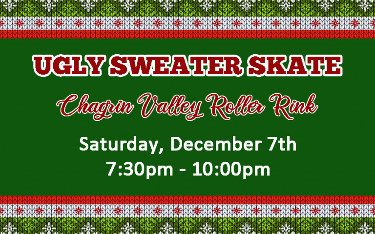 Ugly Sweater Skate Chagrin Falls